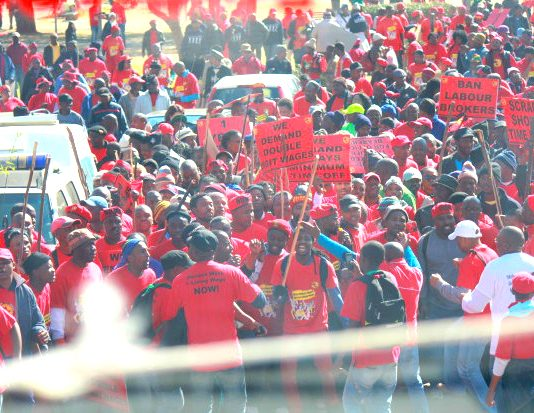 NUMSA engineering members have just finished a successful strike action