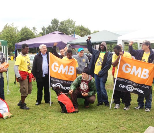 GMB union leaders from Stafford gave their support to the YS March for Jobs