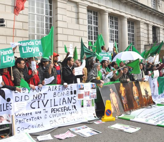 Libyans in London opposed the NATO-led uprising, and warned the country would be destroyed
