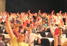 TUC delegates show Qatar the red card and voted that if it does not stop the exploitation of migrant workers it must be stripped of the World Cup
