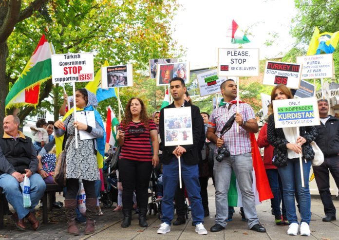 Kurds in Norwich condemn Turkey for supporting ISIS