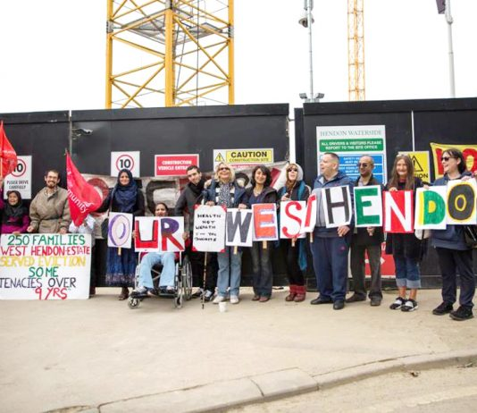 Our West Hendon campaigners determined to defend their homes and their rights