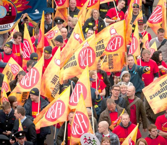 Firefighters are defending their pensions, jobs and fire stations all over the country