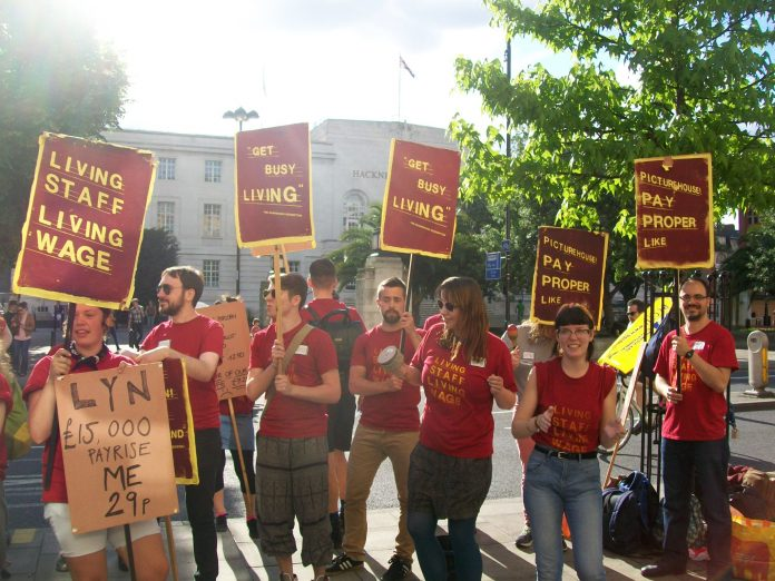 Ritzy cinema workers took their campaign to Hackney during their strike for a living wage