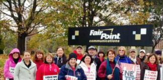 FairPoint workers on the picket line