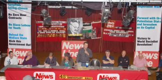 FORWARD WITH THE WORLD SOCIALIST REVOLUTION – –News Line Anniversary Rally told