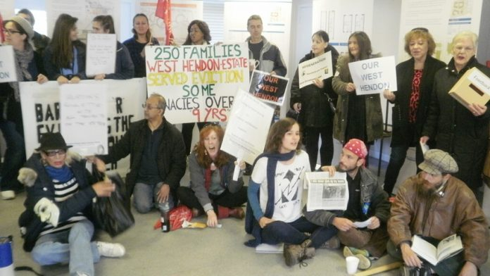 Lively West Hendon tenants determined to fight privateers 'regeneration' of their estate creating evictions