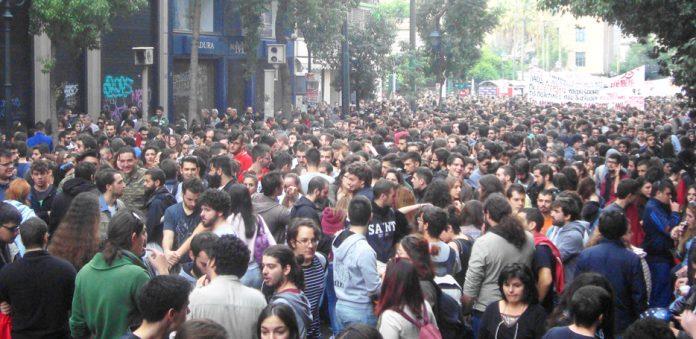 Greek demonstrators last Monday