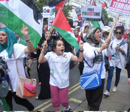 Demonstration in London against Israel's 51-day war on Gaza