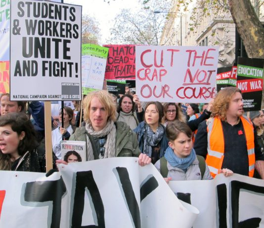 Ten thousand students marched through central London last month demanding the restoration of free education