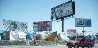 Thousands of Haitians are still living in tents after the earthquake of 2010