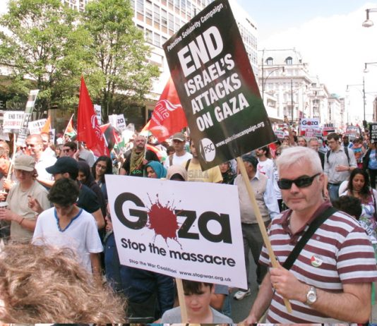 Hundreds of thousands marched for Palestine in the UK during Israel's 51-day war while the House of Commons voted to urge recognition of Palestine