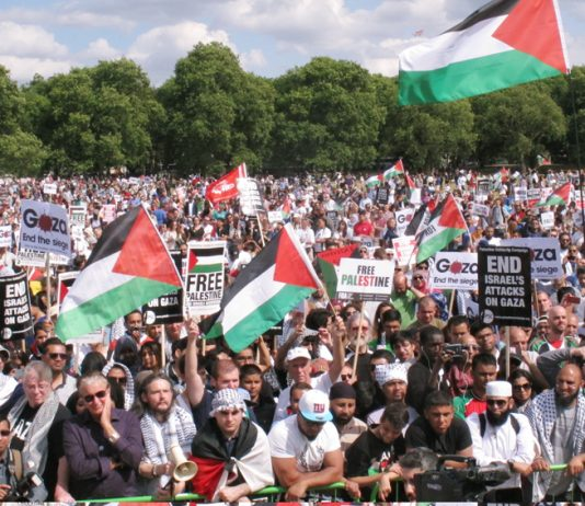 Hundreds of thousands rallied in London during Israel's 51-day blitz of the Gaza Strip. They will be very angry at the UK's abstention on the UN vote