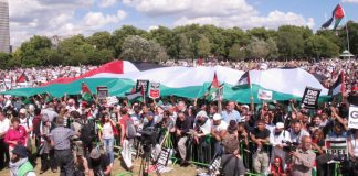 Massive rally in London in support of Palestine
