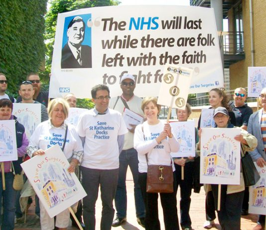 Tower Hamlets march to stop the closure and sell-off of GP surgeries