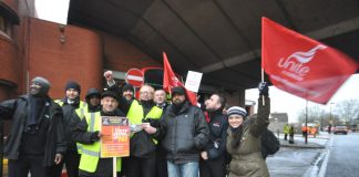 Westbourne Park pickets enthusiastic and confident of winning their struggle