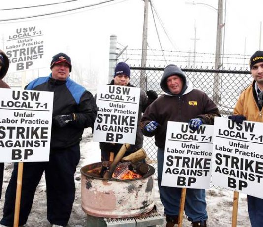 USW members at BP's Husky refinery in Toledo, Ohio, have joined the oil workers' strike