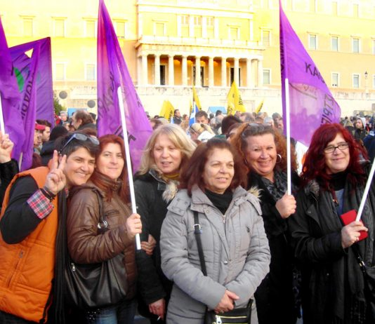 Greek workers have been demanding 'not one step backwards' in the struggle against EU austerity