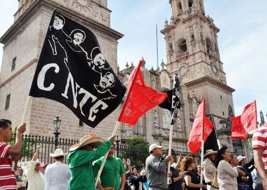 Oaxaca teachers blockaded the central bus station for three hours on February 5th