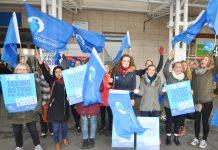 Nurses outside Chelsea & Westminster hospital during the last NHS pay strike on November 24th