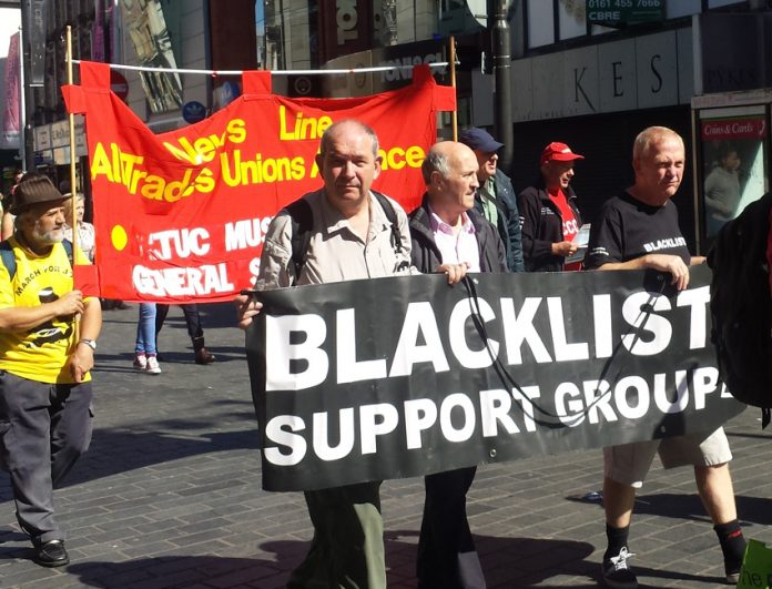 Members of the Blacklist Support Group on the YS march for jobs last year