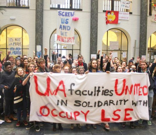 Students from the University of Arts London have occupied Central St Martin's College since Thursday last week