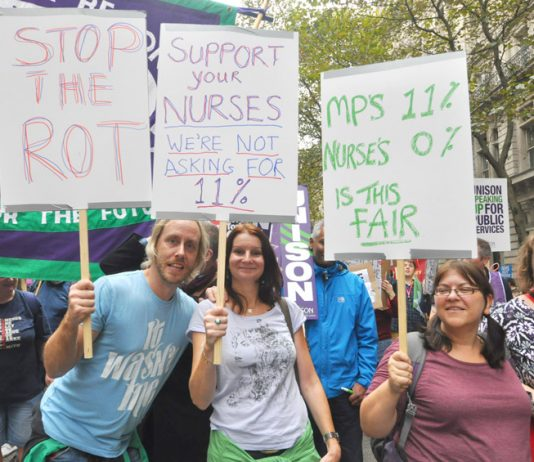 Nurses demanding wage rises – the NHS budget is being squandered on purchasing staff from private agencies who are making huge profits