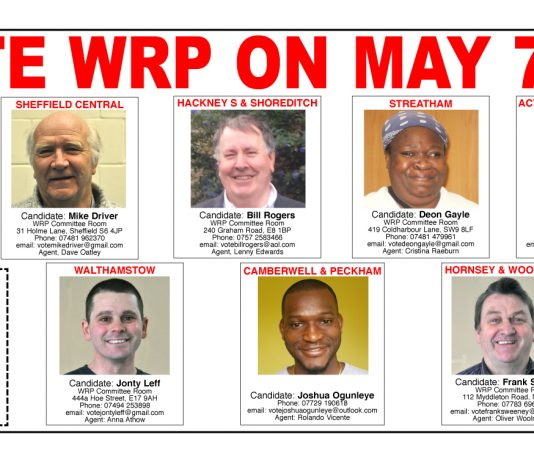 WRP Election candidates!