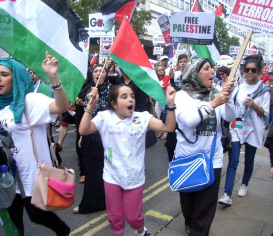Palestinians marched all over the world demanding their independent state