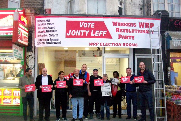 WRP Election Committee Rooms opened in the busy Walthamstow market last Thursday