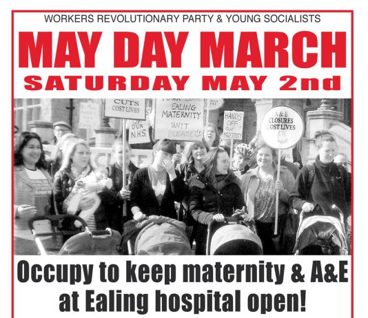 May Day March on Saturday May 2nd!