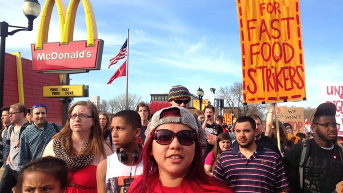 McDonald's fast food workers are part of the huge movement for $15 an hour that is shaking the United States
