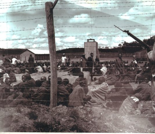 Hola concentration camp in Kenya. Kitson wrote about his experiences fighting the Mau Mau in his book Gangs and Counter Gangs