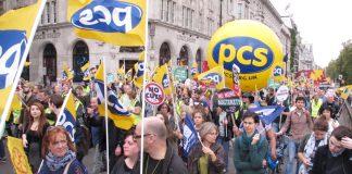 PCS delegation on last October's TUC demonstration in London