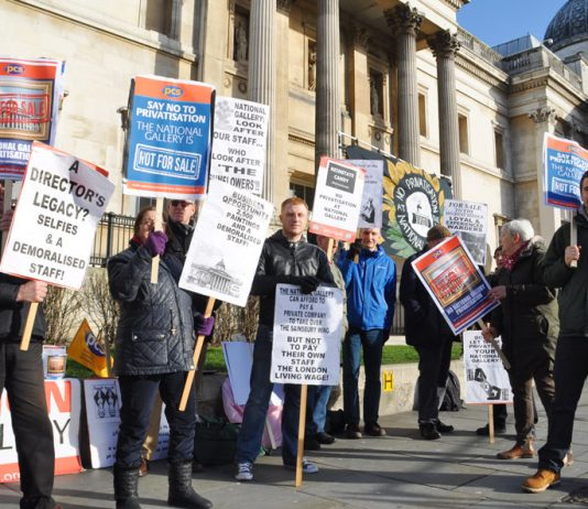 PCS fighting privatisation and victimisation at the National Gallery