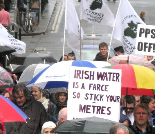 A clear message from the Dublin protesters they won't pay water charges