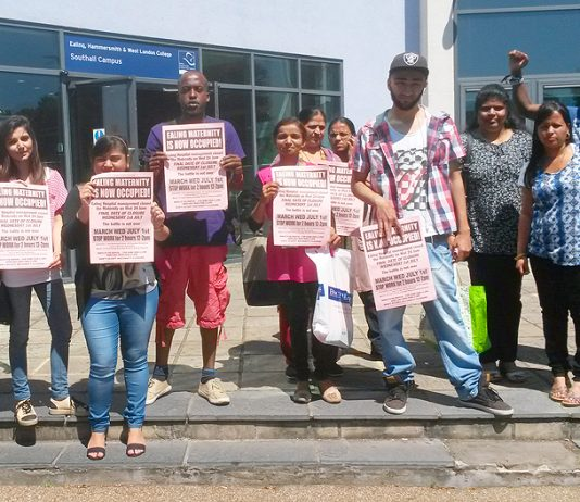 Southall College students – will be be joining today's march to stop the closure of Ealing Hospital Maternity Deparment