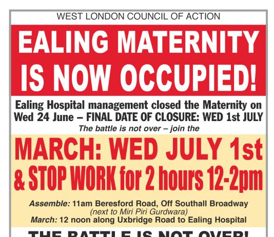 All Out On Today – Stop Maternity Closure!