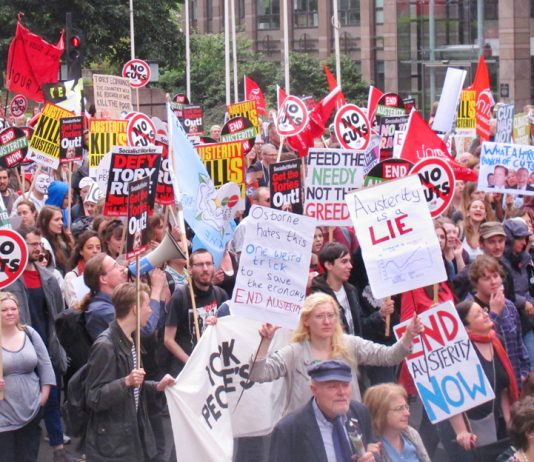 Hundreds of thousands took part in an anti-austerity march on June 20th – they will not take a rise in interest rates lying down