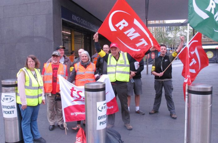 During the last Tube strike there was a strong picket at King's Cross
