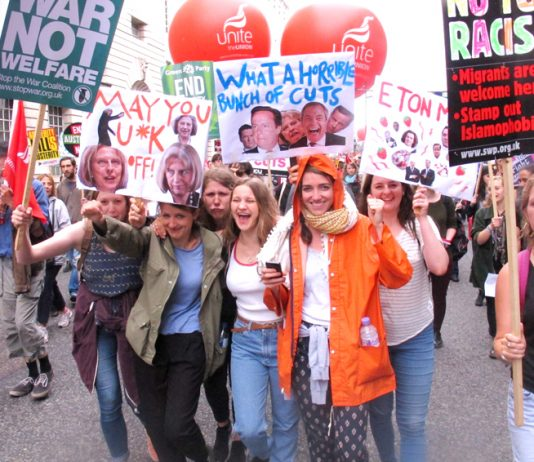 Youth marching to Parliament Square on June 20th to demand that the Tories scrap their austerity programme