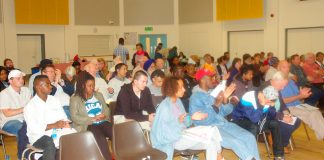 A section of the audience at Sunday's West London Council of Action/All Trades Unions Alliance Conference