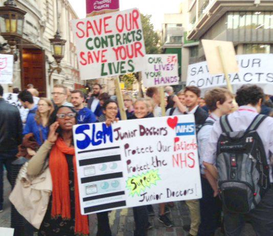 Junior doctors rally in Westminster last Monday
