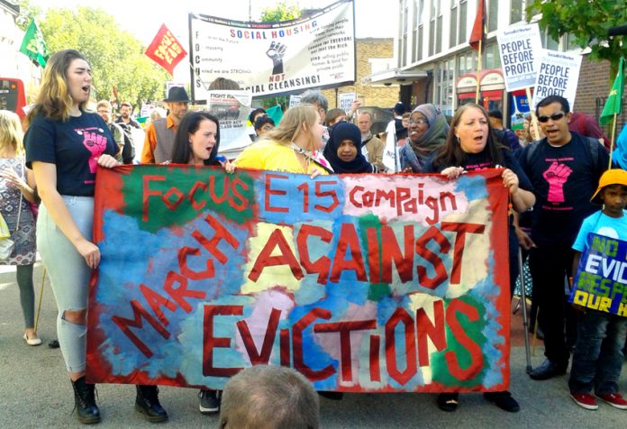 The E15 Campaign fights for social housing against the policy of social cleansing