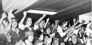 Libyans at a celebration on the anniversary of the September 1st Libyan revolution