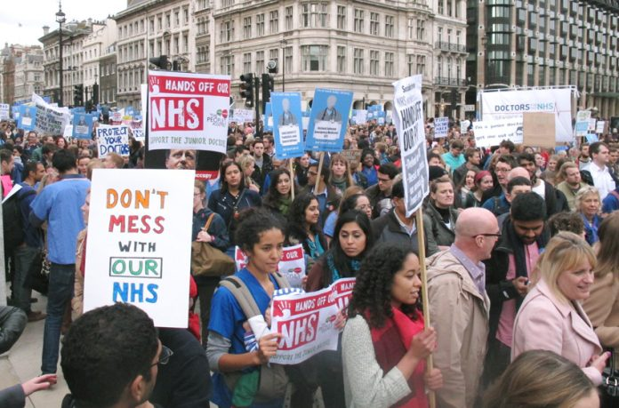 Junior doctors rallying to defend the NHS – they have now proven to Health Secretary Hunt that their defence of the NHS is serious