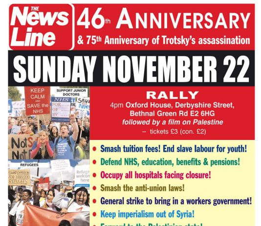 THIS SUNDAY – News Line 46th Anniversary Rally