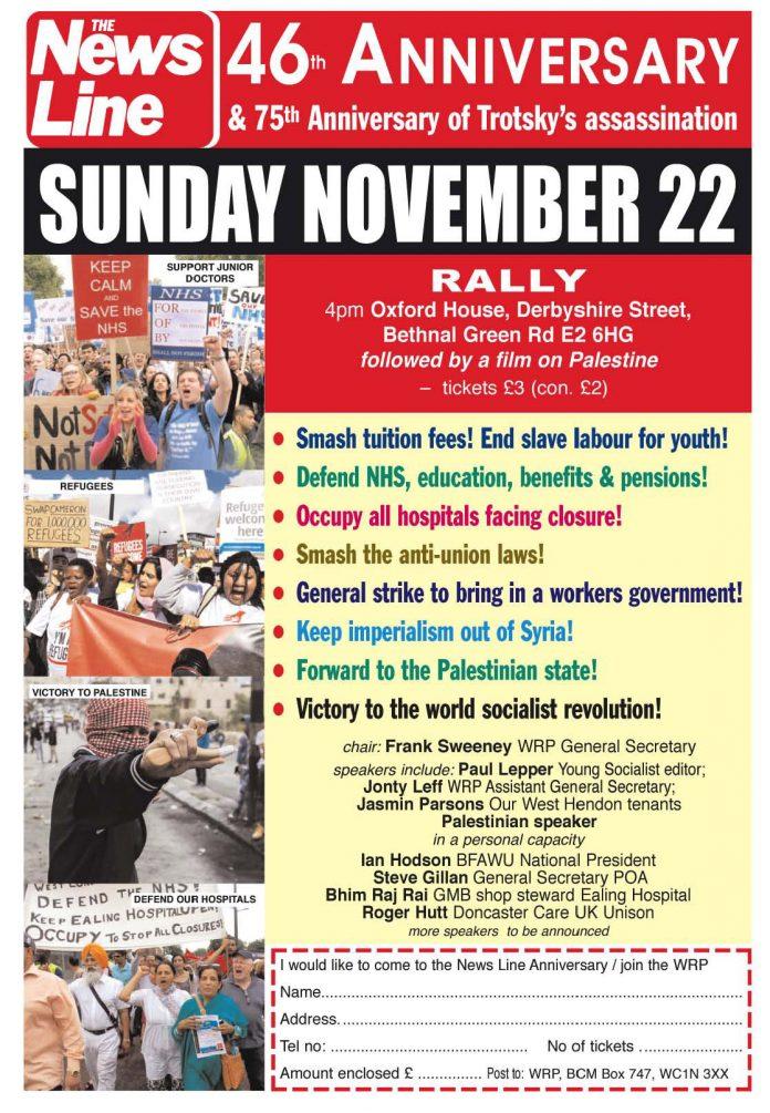 THIS SUNDAY – News Line 46th Anniversary Rally