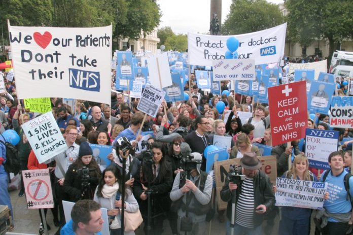 Over 20,000 Junior Doctors marched on October 31st against Hunt's imposed contract