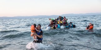 Refugees arriving on the Greek island of Lesbos. Photo © UNHCR/Andrew McConnell